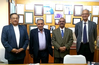 Dr Muhammed Majeed along with the Board of Directors of Sami-Sabinsa Group <br> From Left - Mr P N Venugopalan, Director, Dr. M.D Nair, Director, Dr. Majeed and Mr. Humayun Dhanrajgir, Director